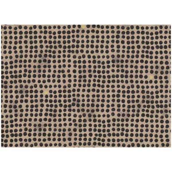 STOF fabric - Golden Elements – Dot Grid Black Tan