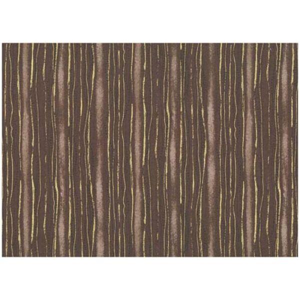 STOF fabric - Golden Elements – Dot Wave Stripe Brown