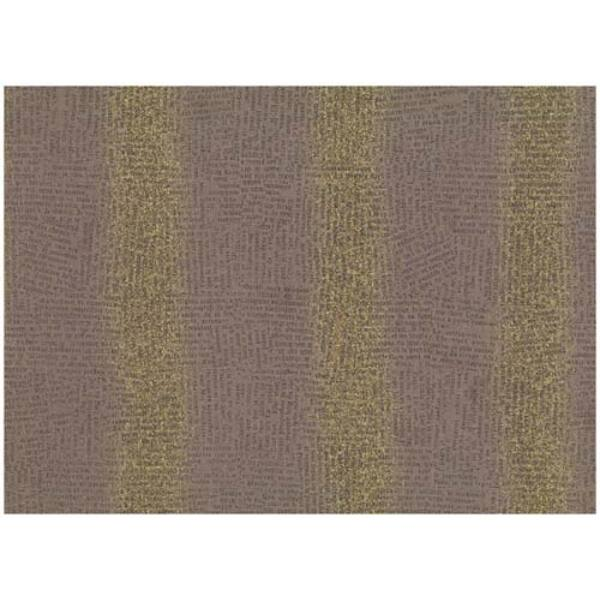 STOF fabric - Golden Elements – Newsprint Brown