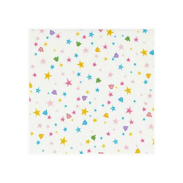 STOF fabric -  Lizzy Fay - Crowns and Stars white
