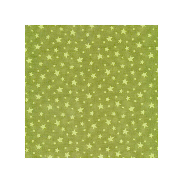 STOF fabric - Merry Christmas Style -Stars on Green
