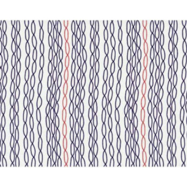 STOF fabric - Pure -  Chains in Navy and Red