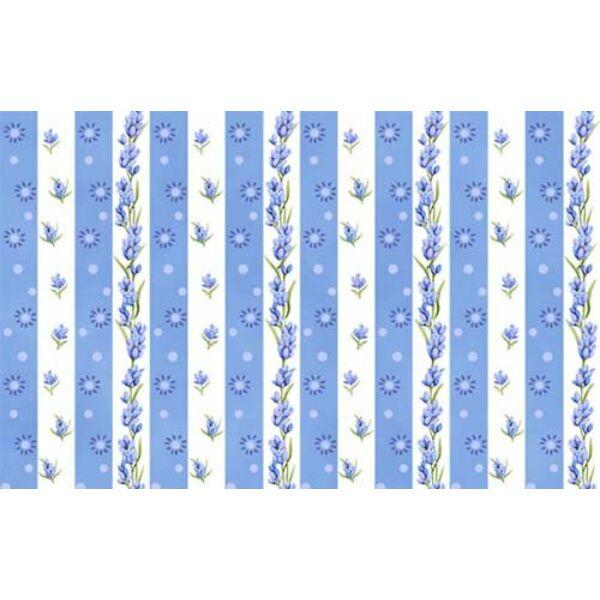 STOF fabric - Jardin de Lavande - Stripe Blue