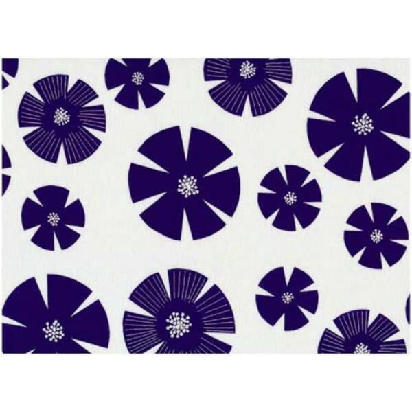 STOF fabric - Pure - Stamped Flowers on White