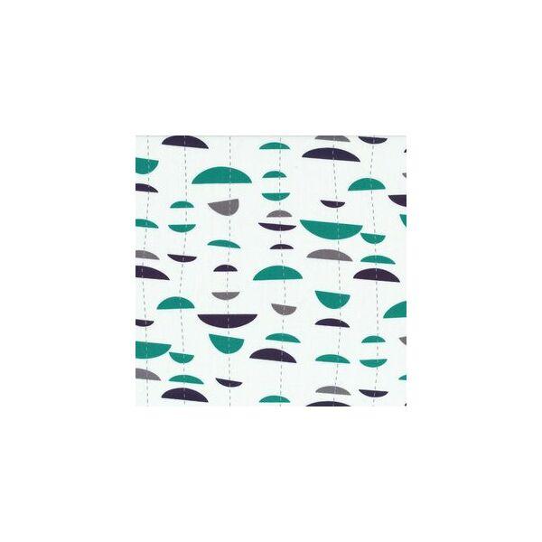 STOF fabric -  Uno Half Moon Stripe on white