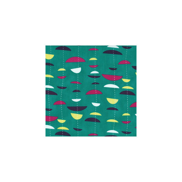 STOF fabric -  Uno Half Moon Stripe on Teal