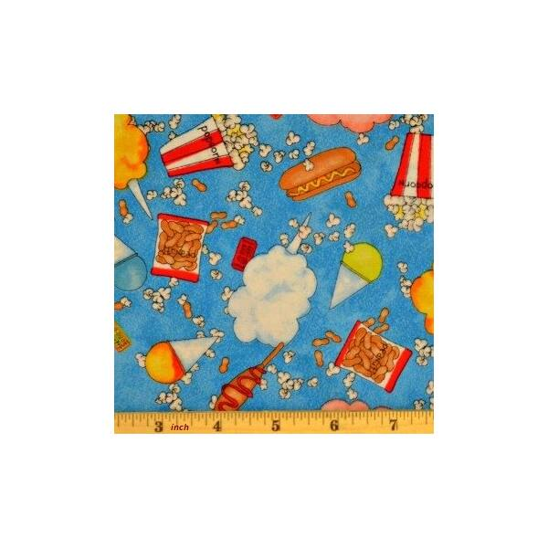 studio E fabric - Circus - Tossed Treats Blue