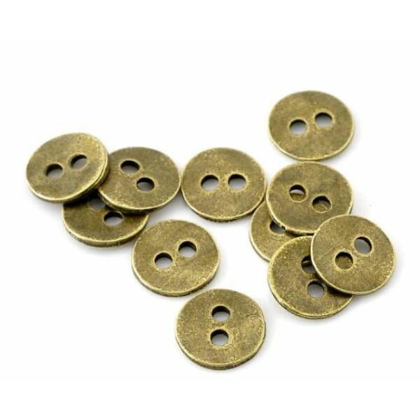 Fém gombok - 11mm - 10db