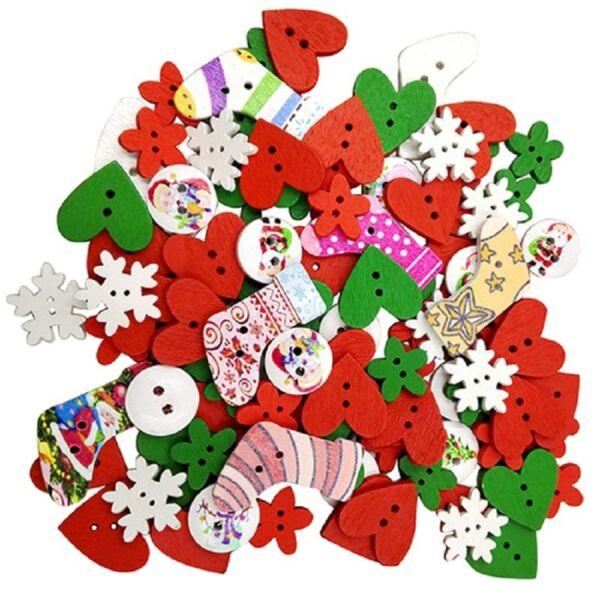 Vegyes fa gombcsomag - karácsonyi