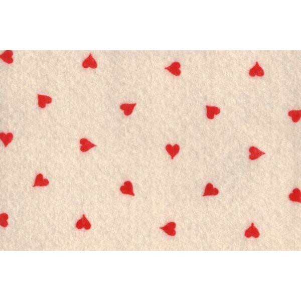 Krém alapon szív mintás barkácsfilc