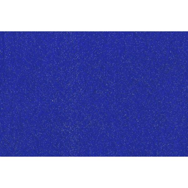 Csillámos barkácsfilc - kék
