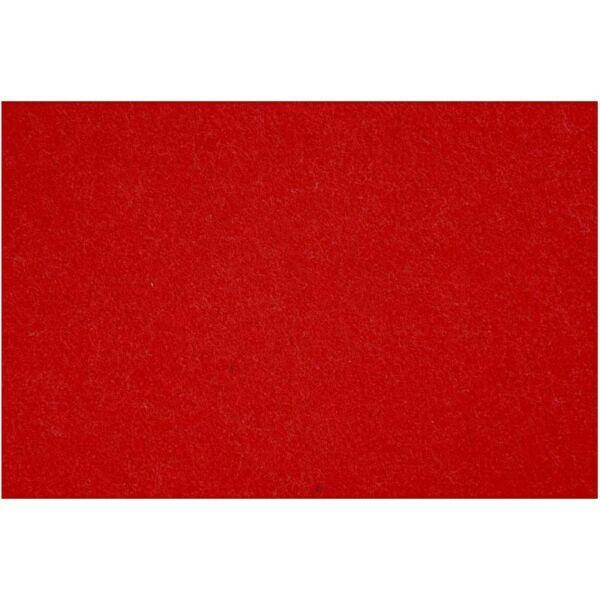 3mm vastag barkácsfilc - piros - A4