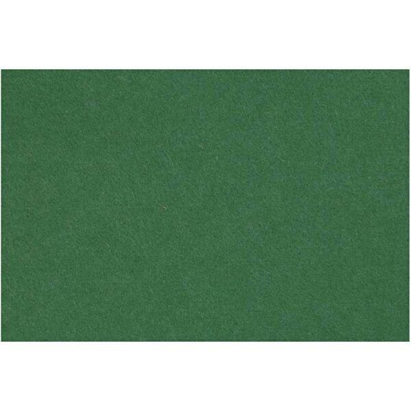 3mm vastag barkácsfilc - sötétzöld - A4
