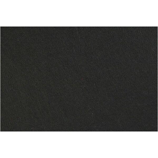 3mm vastag barkácsfilc - fekete - A4