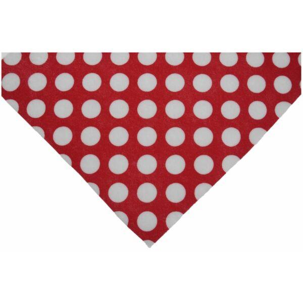 Piros alapon nagy pöttyös barkácsfilc