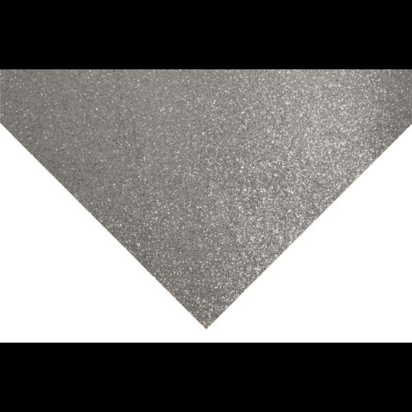 Glitteres barkácsfilc - ezüst