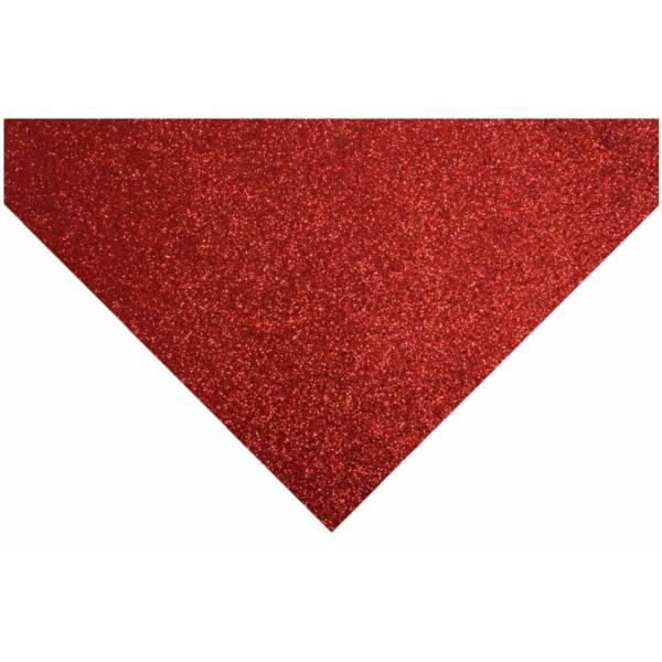 Glitteres barkácsfilc - piros