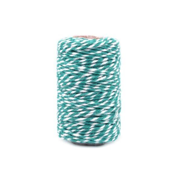 Kék - fehér sodrott pamut zsinór - pékzsineg - 22,5m