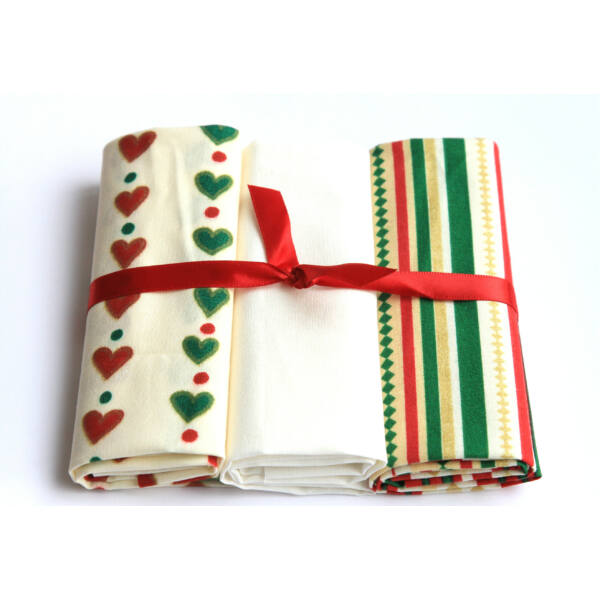 Mini pamutvászon csomag - Hearts and Stripes