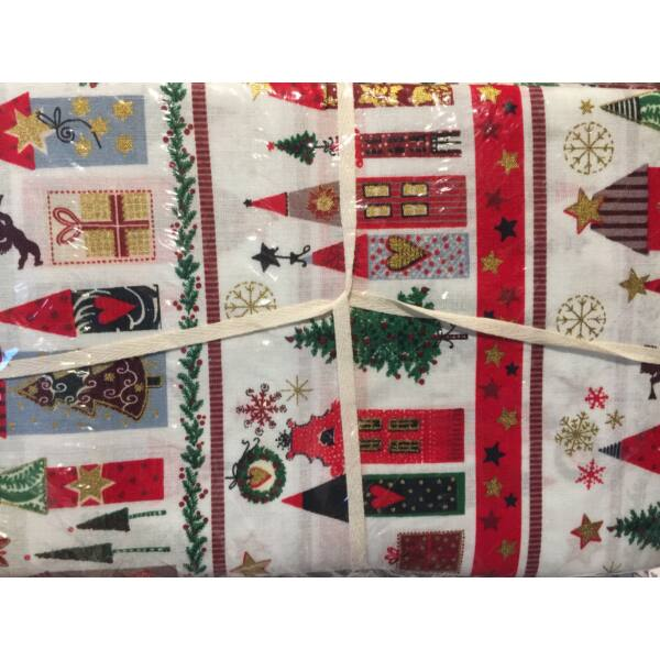 BeaLena pamutvászon - Christmas Town - 1m