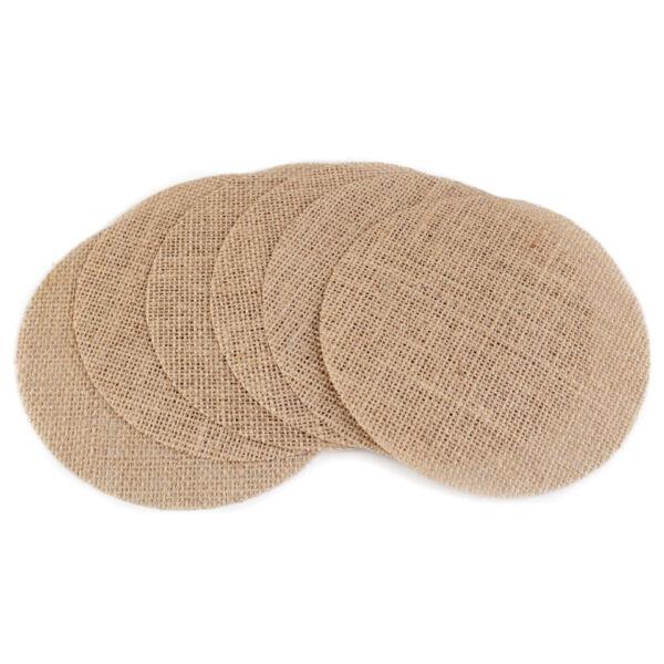 Juta zsákvászon szövet korong - 15cm