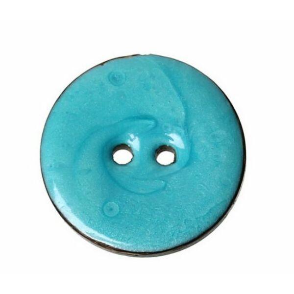 Kékre festett kókusz gomb