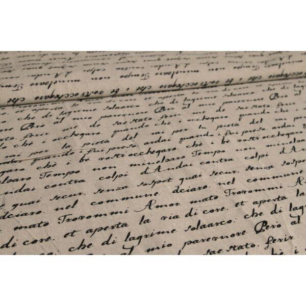 Mintás lenvászon - Handwriting