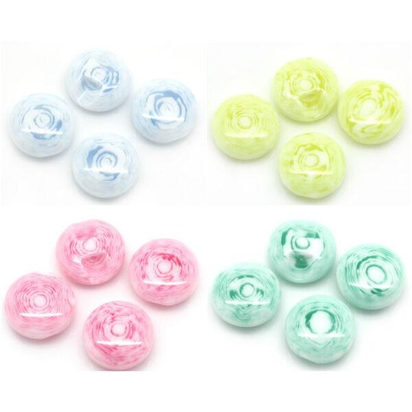 Gyöngyház buborék dekor gomb