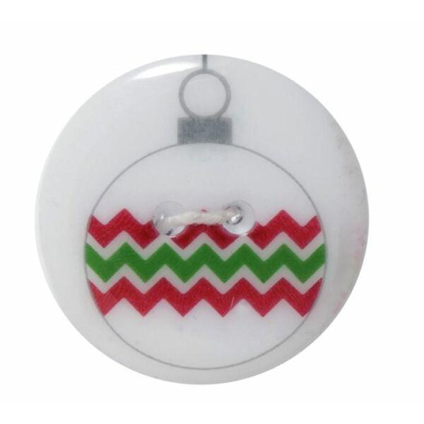 Karácsonyi gomb - Zig Zag Bauble