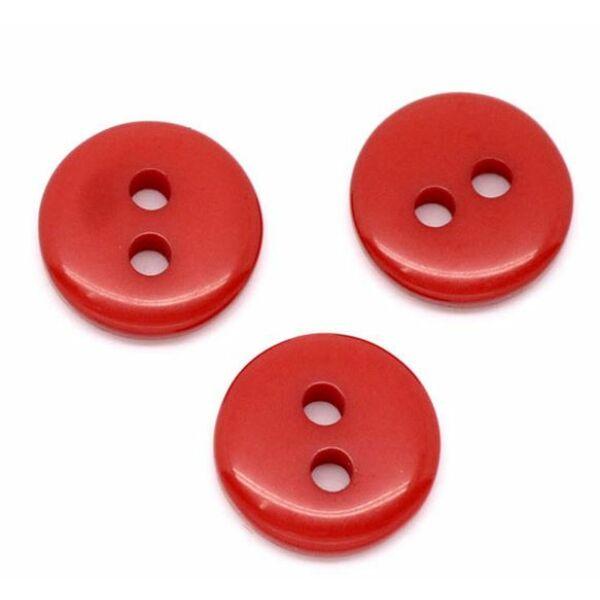 Piros műanyag gomb csomag - 9mm