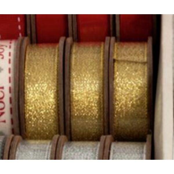 Arany dekorációs szalag guriga