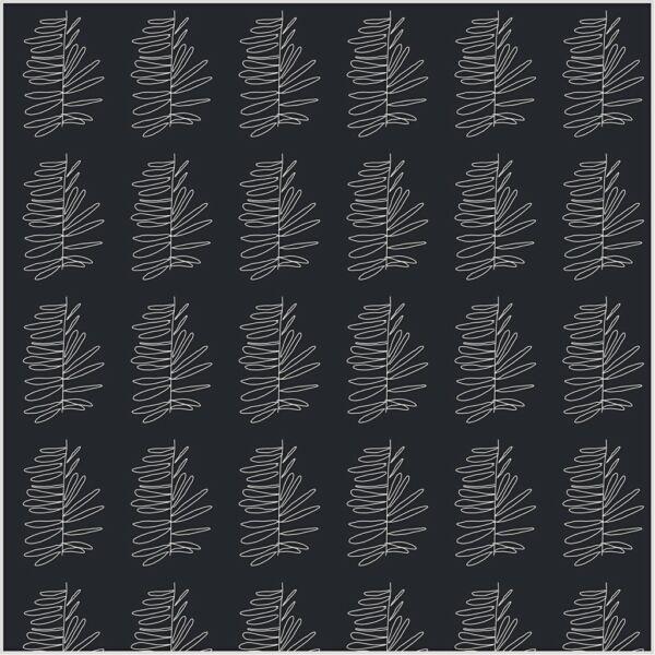 Glad Design pamutvászon - fekete mintás