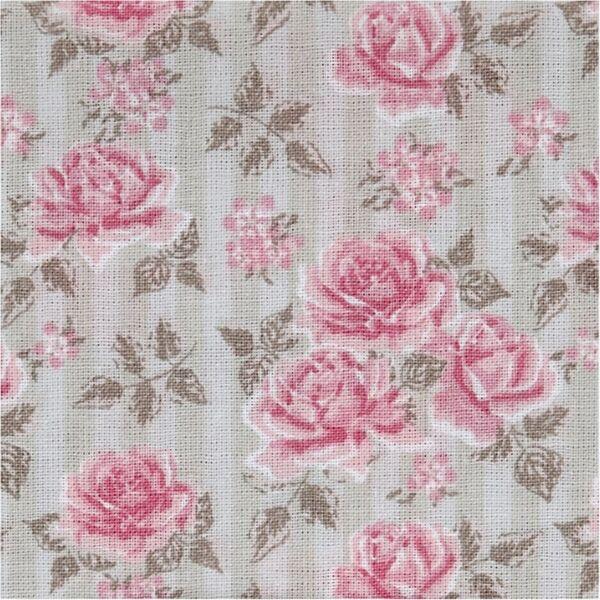 Organikus pamutvászon - Skagen - rózsák