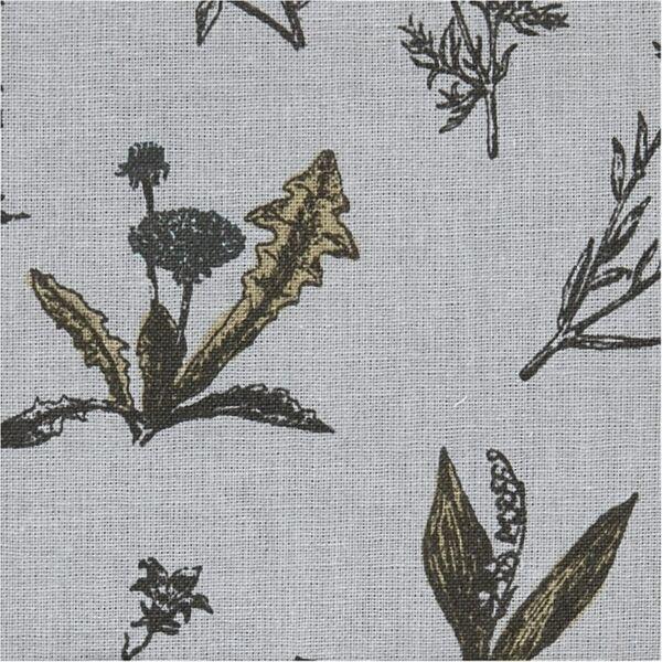 Organikus pamutvászon - Paris - virágos