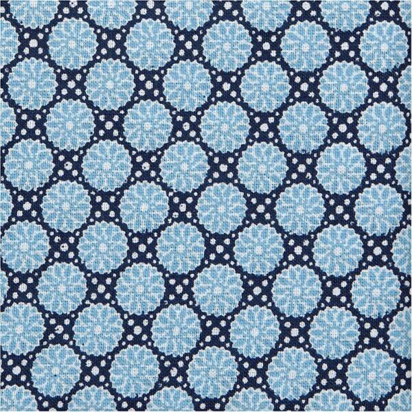 Organikus pamutvászon - London - kék virágos - 1m