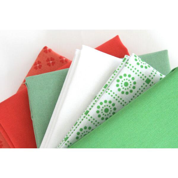 Organikus pamutvászon csomag - Christmas Colours