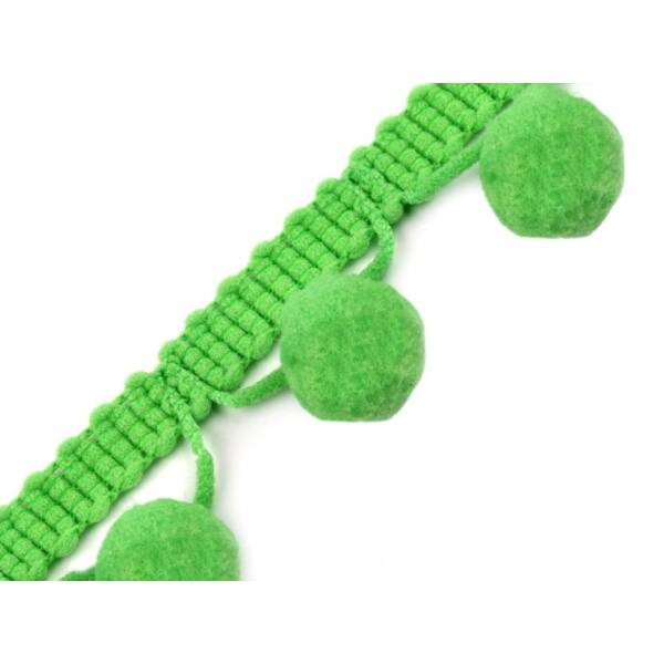 Lime zöld pom-pom szalag - 30mm