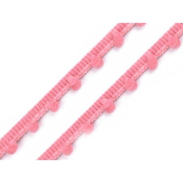 Rózsaszín pom-pom szalag - 7mm
