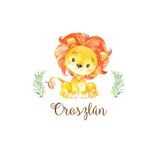 Mintás barkácsfilc - African Friends - oroszlán