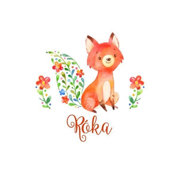 Mintás barkácsfilc - Hello Spring - róka