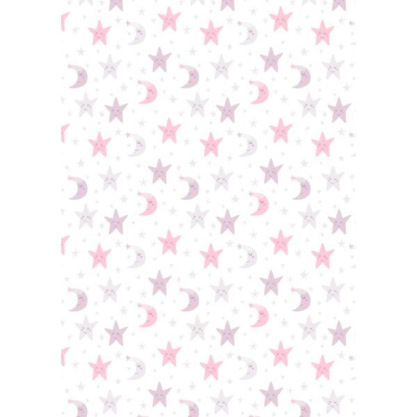 Mintás barkácsfilc - varázslatos unikornis - L széria - csillagos minta