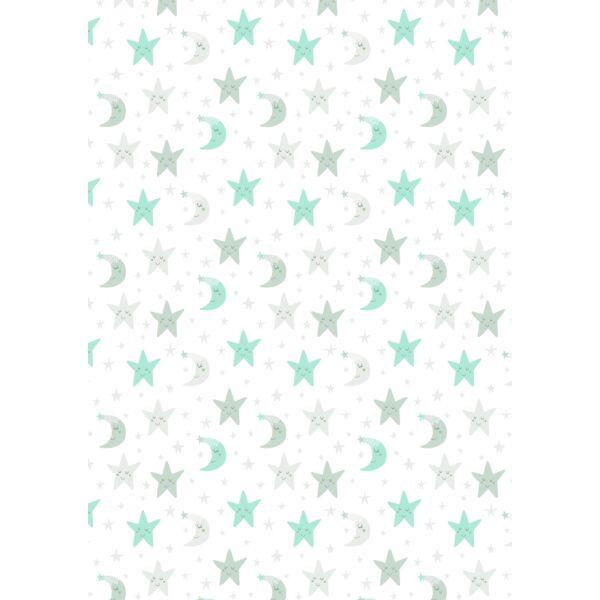 Mintás barkácsfilc - varázslatos unikornis - M széria - csillagos minta