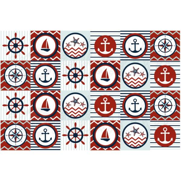 Mintás barkácsfilc - navy - kártyák