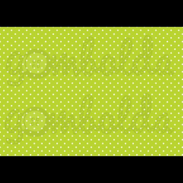 Mintás barkácsfilc - zöld alapon apró fehér pöttyös