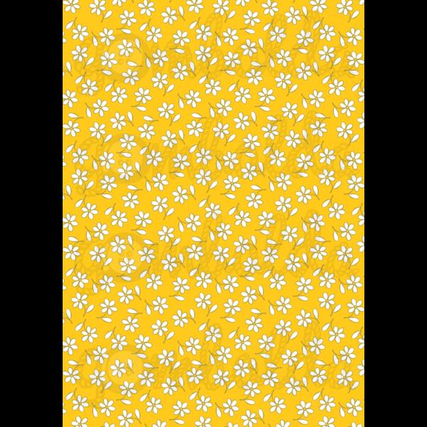 Mintás barkácsfilc - sárgás alapon apró virágok