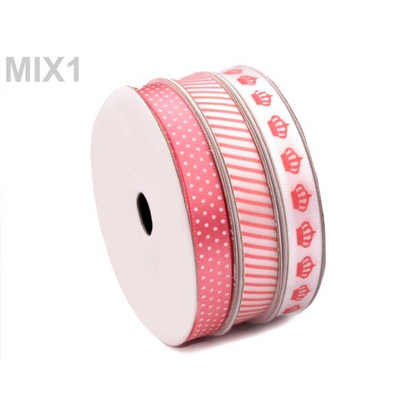 Vegyes szatén szalag mix - Pink Harmony