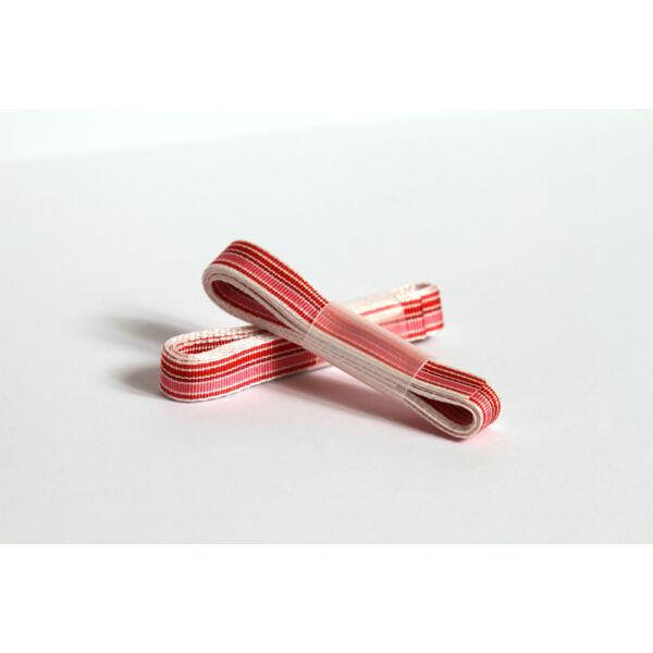 Rózsaszín csíkos ripsz szalag