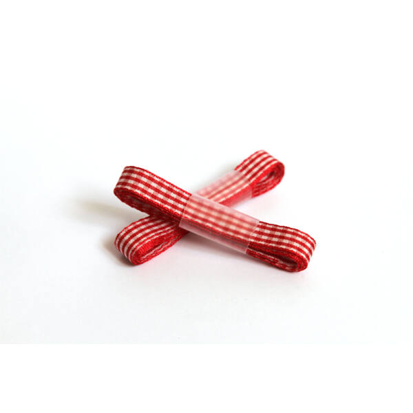 Piros fehér kockás dekor szalag