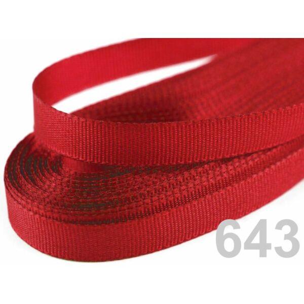 Taft szalag - 6mm - 10m - piros