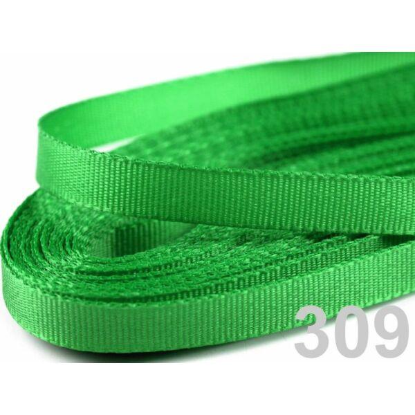 Taft szalag - 6mm - 10m - zöld
